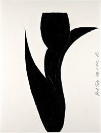 black tulip by donald sultan