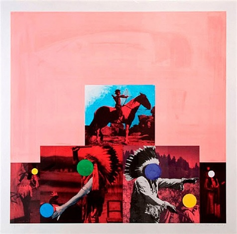 cliche: north american indian (red) by john baldessari