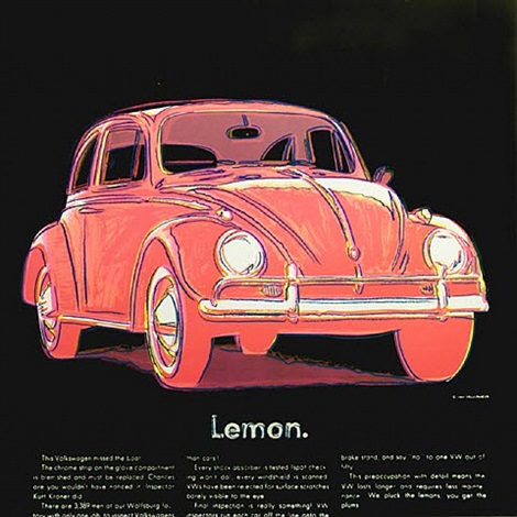 ads-volkswagen by andy warhol