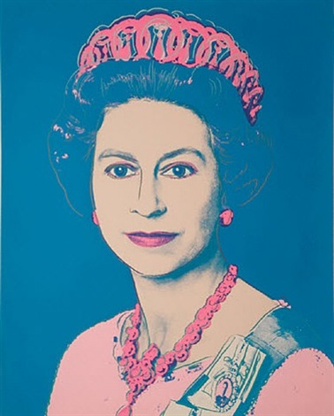 reigning queens - queen elizabeth ii of the united kingdom by andy warhol