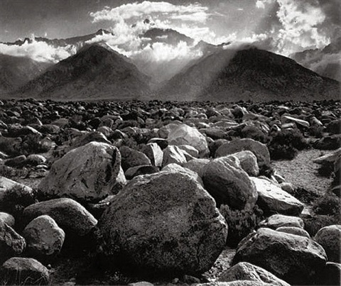 mount williamson, sierra nevada from manzanar, ca by ansel adams