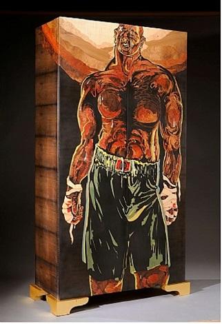 armoire «hommage à un boxeur déchu» by hilton mac connico