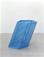 we are resistant. we dry out in the sun (large blue poolside bin) by martin boyce