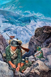 the gothic line, paperback cover by norman eastman