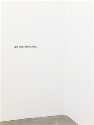 love laughs at locksmiths by liam gillick