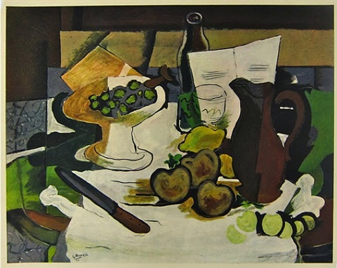 after untitled (still life) by georges braque