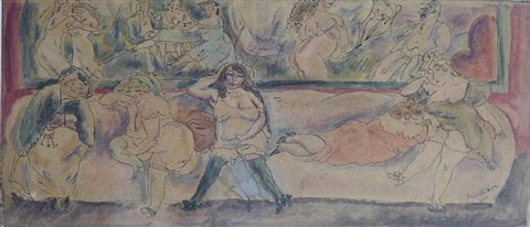 scene maison close by jules pascin