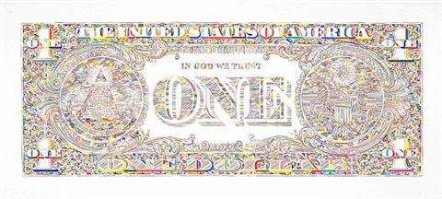 untitled (dollar bill back) by tom friedman