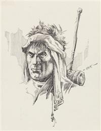 g. head study by roy krenkel