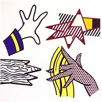 study of hands by roy lichtenstein