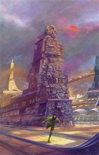 stepfather bank, dust jacket art by paul lehr