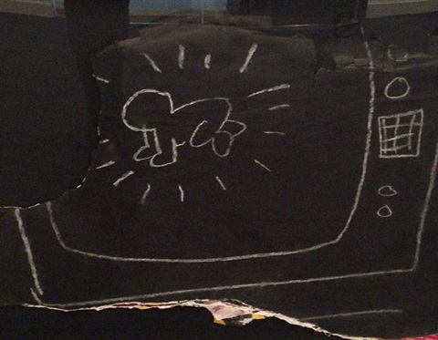 untitled (subway-glowing baby) by keith haring