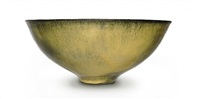reduction fired bowl by gertrud and otto natzler