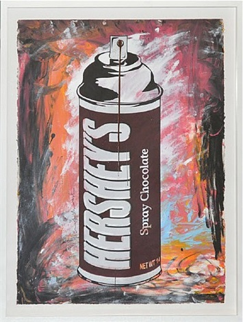 hersheys spray original by mr. brainwash