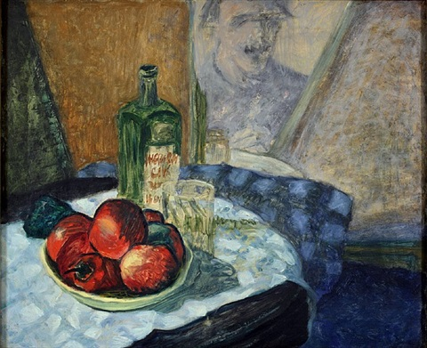 self portrait with still life by milton avery