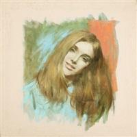 portrait of a young woman by robert kennedy abbett