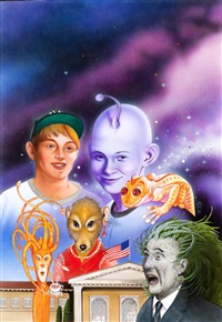 i was a sixth grade alien, paperback cover by chris achilleos