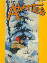 adventure magazine cover by vivian milner akers