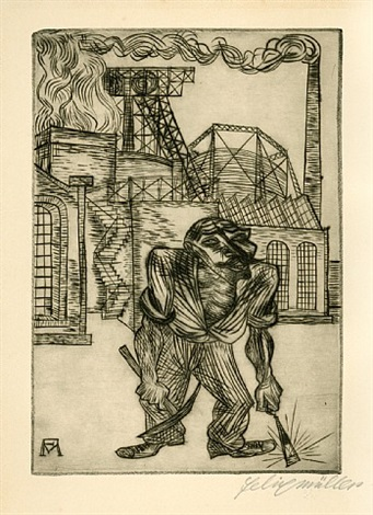 der alte kohlenarbeiter by conrad felixmüller