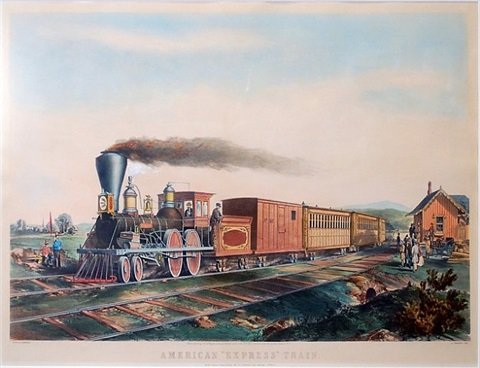 american express train by nathaniel currier