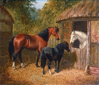 a trio of companions by john frederick herring the elder
