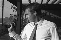 steve mcqueen with pistol at his hollywood hills home, 1961 by steve mcqueen