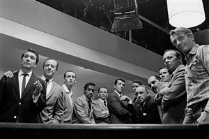 """the cast of """"ocean's 11"""", 1960 by sid avery"""