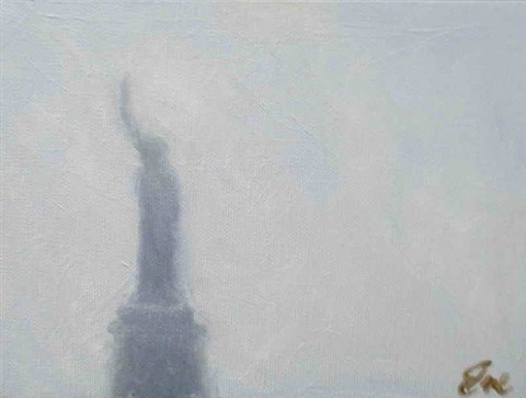 statue of liberty blue by eve plumb
