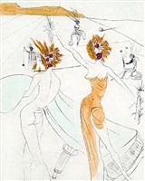 les femmes-fleurs au piano (flower-women at the piano) by salvador dalí