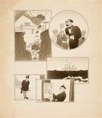 the new yorker magazine cartoon illustrations by ralph barton
