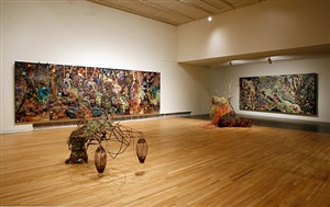 installation view from <i>elliott hundley: the bacchae, wexner center for the arts, september 16 – december 30, 2011</i> by elliott hundley