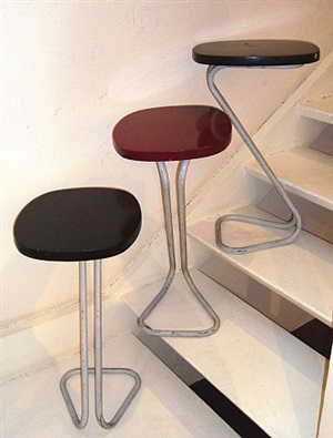 trois sellettes ovales / three oval side-tables by andré lucien albert bloc