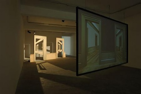 views from outer to inner compartments, 2010-2011 (exhibition view sfeir-semler, beirut) by walid raad