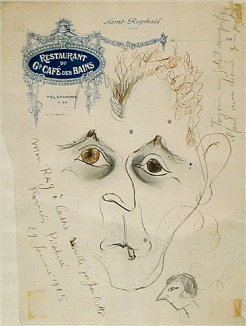 portrait of man ray by francis picabia