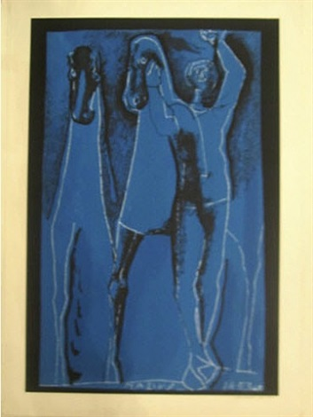 composition in blue - after by marino marini