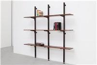 étagère suspendue sur crémaillère / rack-and-pinion shelves by jean prouvé