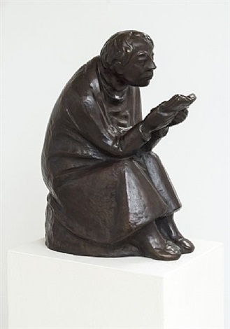 der buchleser / the reader by ernst barlach