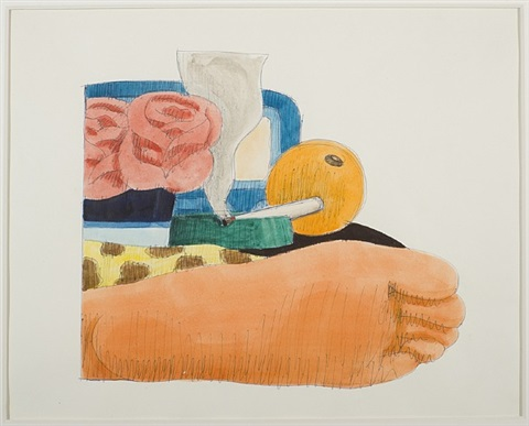 drawing for bedroom painting # 14 by tom wesselmann