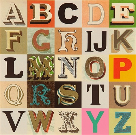 appropriated alphabets 7 by peter blake