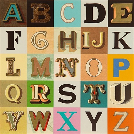 appropriated alphabets 9 by peter blake