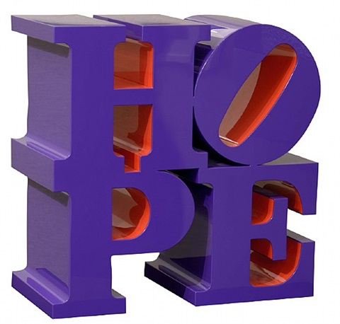 hope (violet/red) by robert indiana