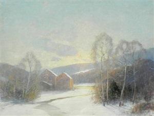 snow scene by ernest albert