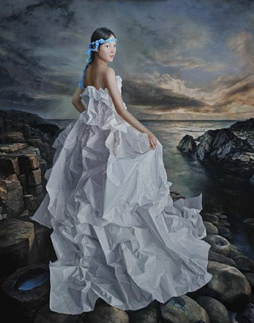 white paper bride - wandering to cythera by zeng chuanxing