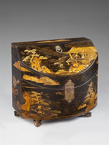 a chinese export lacquer knife box
