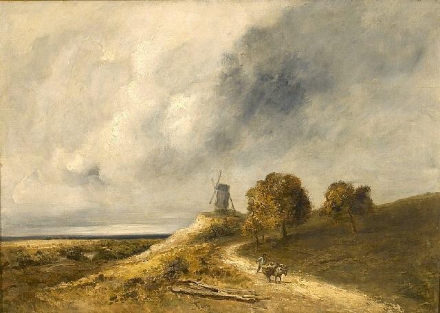 moulin dans un paysage by georges michel