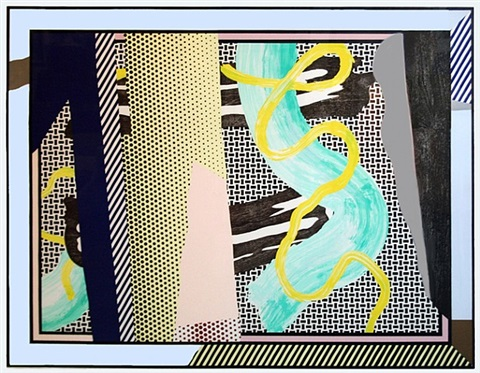 reflections on brushstrokes by roy lichtenstein