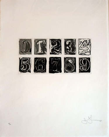 numerals 0-9 by jasper johns