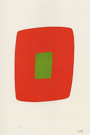 orange with green by ellsworth kelly
