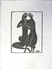 zwei mädchenakte by moishe (moissey) kogan