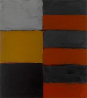 mirror orange by sean scully